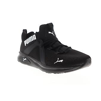 Puma Enzo 2  Mens Black Mesh Lace Up Athletic Running Shoes