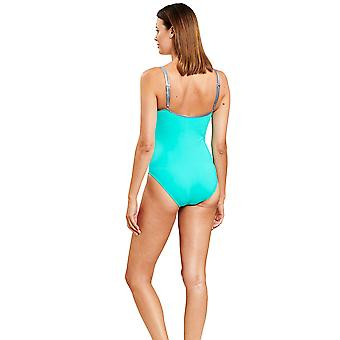 Féraud 3205159-10841 Women's Turquoise One Piece Swimsuit