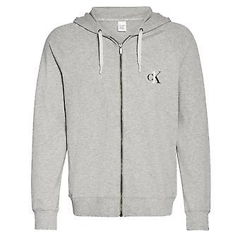Calvin Klein CK One Lounge Bluza z kapturem Full Zip - Grey Heather