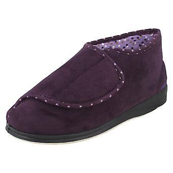 Acariciar las señoras montaje ancho de bota estilo zapatillas