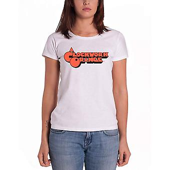 A Clockwork Orange T Shirt classic movie Logo Official Womens Skinny Fit White