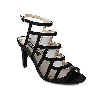Rialto Womens Robby Suede Peep Toe Casual Ankle Strap Sandals