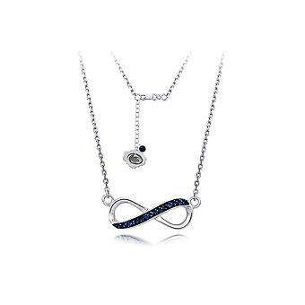 925 Sterling Silver Rhodium Plated Spirit Infinity Necklace Penn State University 18 Inch Jewelry Gifts for Women