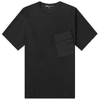 Y-3 Travel Style Short Sleeve T-Shirt Black