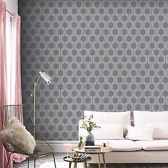 Luxe Hexagon Tapety Arthouse