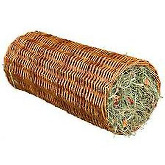 Trixie Wicker with Hay Tunnel, Carrot, Ø15X33Cm, 110G