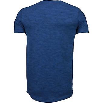Sleeve Garter-T-Shirt-Navy