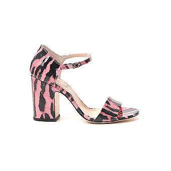 Agl Attilio Giusti Leombruni D654018pcglint0354 Women's Black/pink Patent Leather Sandals