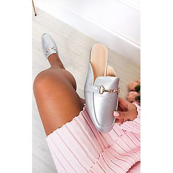 IKRUSH Womens Gigi Faux Leather Mule Sandal