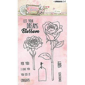 Studio Light A6 Clear Stamp - Lovely Moments Number 388