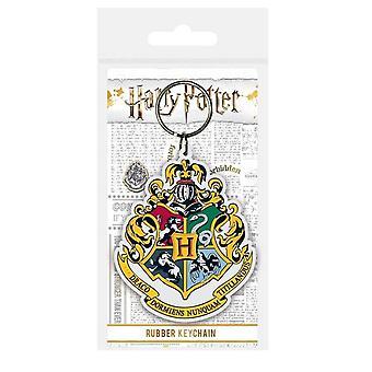 Harry Potter Hogwarts School Crest Rubber Keyring