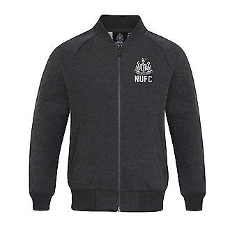 Newcastle United FC Official Football Gift Boys Retro Varsity Baseball Jas