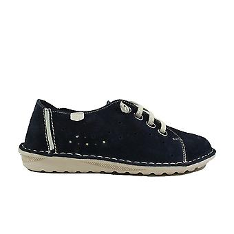 On Foot Basket 20602 Navy Nubuck Leather Womens Slip On Shoes