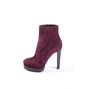 Sergio Rossi A72430331 Women's Burgundy Suede Ankle Boots