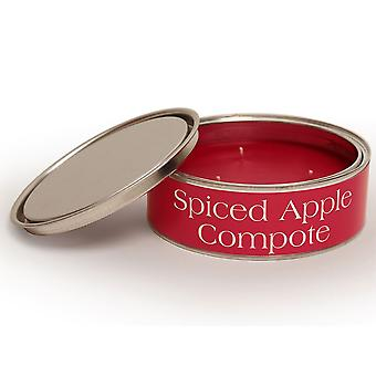 Pintail Candles Large 3 Wick Scented Candle Tin - Spiced Apple Compote