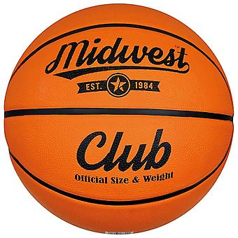 Midwest Club Indoor Outdoor Rubber Basketball Ball Orange