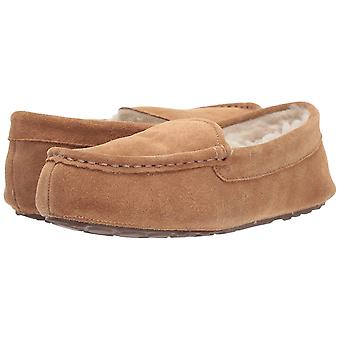 Amazon Essentials Women's Leather Moccasin slipper, kastanje, 8 M ons