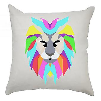 Colourful Cushion Cover 40cm x 40cm Lion