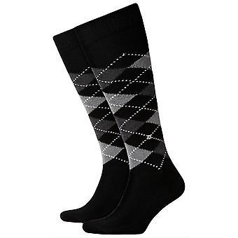 Burlington Preston sokker knehøye - svart/grå