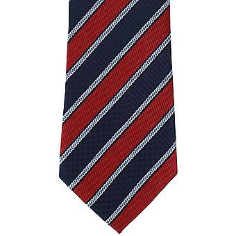 Michelsons of London Multi Textured Stripe Polyester Tie - Red