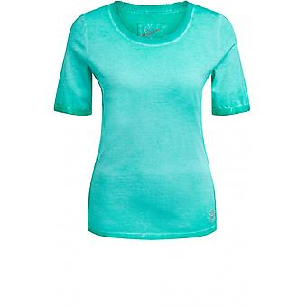Oui Holly Green Jersey T-Shirt