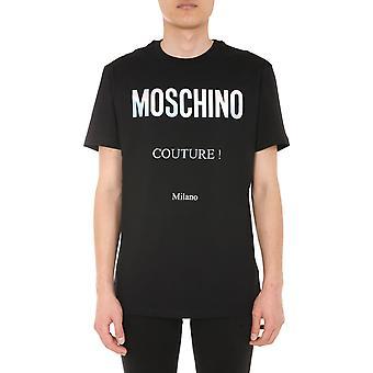 Moschino 070852402555 Männer's schwarze Baumwolle T-shirt