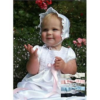Christening Gown From Grace Of Sweden In Optic White Satin