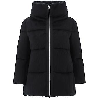 Herno Pi067dr122559300 Dames's Zwart Nylon Bovenkleding Jas