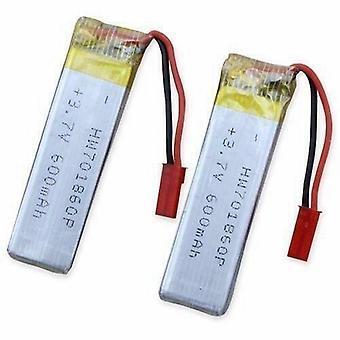 YUNIQUE ITALIA® 2 Pezzi Batteria Lipo Ricaricabile (3.7V 600mAh) per RC Droni quadricotteri UDI U817 U817C U817A U818A WLtoys V959 V969 V979 V989 V999 V929 V949 V212 V222 RC
