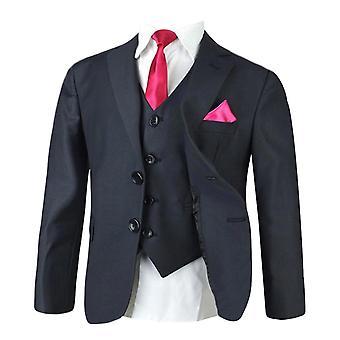 男の子濃いグレーのスーツ セット