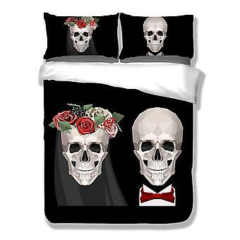 YANGFAN 3D Duvet Cover&Pillowcases 3Pcs Set