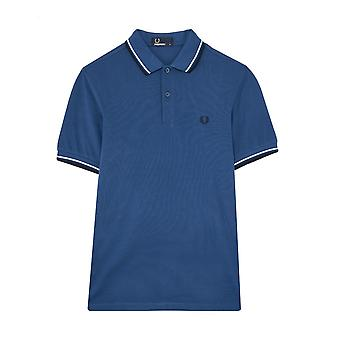 Fred Perry Twin Tipped FP Camisa Azul Polo