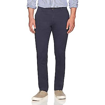 Goodthreads Men's Slim-Fit Washed Stretch Chino Pant, Navy, 36W x 34L