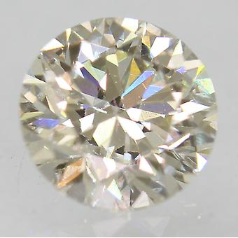 Certified 0.63 Carat I VVS1 Round Brilliant Enhanced Natural Loose Diamond 5.42m