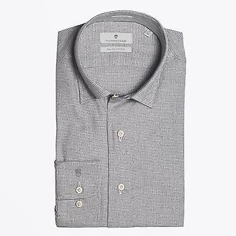 Thomas Maine  - Mini Dogtooth Print Shirt - Grey
