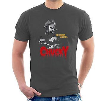 Chucky mina vänner kallar mig Chucky män ' s T-shirt
