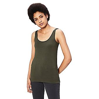 Marchio - Daily Ritual Women's Jersey Tank Top, Forest Green, Small