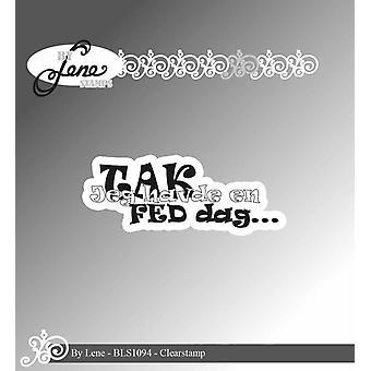 Tekijä Lene Danish Text 8 Clear Stamps
