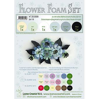 ליאן קראטילף קצף פרח A4 סט 10 שחור אפור