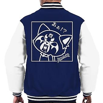 Aggretsuko Retsuko Rocking Rage Zwart-Wit Men's Varsity Jacket