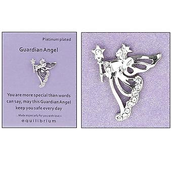 Platinum Plated Guardian Angel Pin Badge - More Special - Cracker Filler Gift