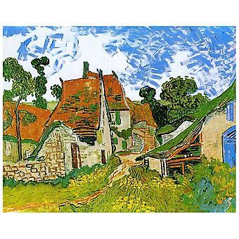 Kunstdruck auf Leinwand - Straße in Auvers Vincent Van Gogh - Wanddeko, Canvas