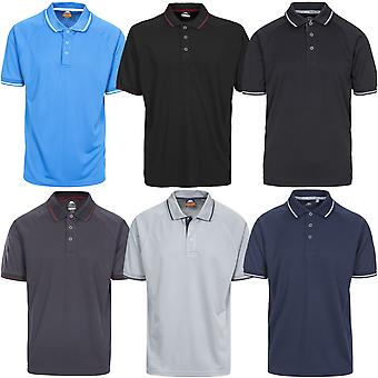 Trespass Mens Bonington Quick Dry Short Sleeve Outdoor Polo Shirt T-Shirt Top