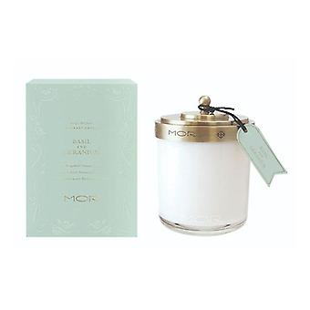 Mor Fragrant Candle 380G Basil And Geranium