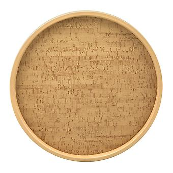 Natural Cork 14 In. Rd. Serving Tray