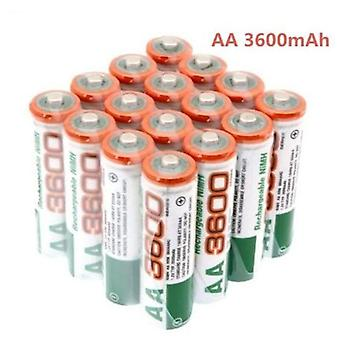 100% New Aa Battery 3600 Mah -rechargeable Battery 1.2 V Ni-mh Aa Battery Suitable For Clocks Mice And Computers