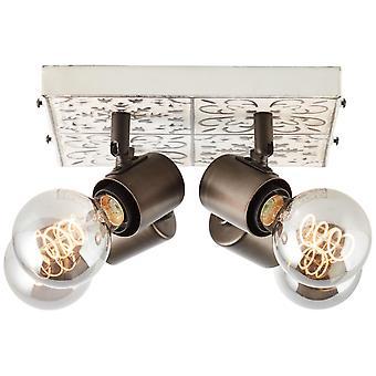 BRILLIANT Vagos Spotplatte 4flg schwarz/weiß Innenleuchten,Strahler,-Rondell   4x A60, E27, 28W, geeignet für Normallampen