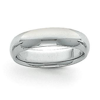 プラチナソリッド研磨版8mm半円形コンフォートフィット軽量バンドリングジュエリー女性のためのギフト - リングサイズ: