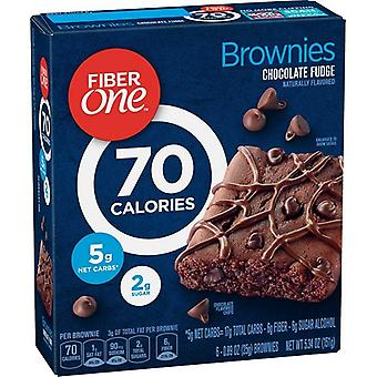 Fiber Bir 70 Kalori çikolata fudge brownies