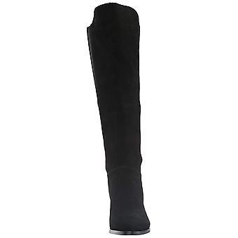 スティーブマッデン女子ジゼル レザー クローズトゥ ファッションの膝のブーツ以上